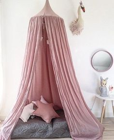 Forever Soles Bohemian Home Styling. We love this NUMERO 74 COTTON CANOPY TENT - DUSTY PINK