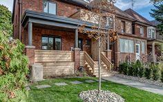 Dorval gets the nod from Toronto Life. Toronto Houses, Toronto Life, Grey Windows, Backyard, Patio, Facade, Brick, Pergola, The Neighbourhood