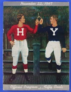 Harvard crimson and Yale blue. One great Law of the Universe is that Harvard will always be better than Yale or Princeton. Nobody cares about other institutions. They're all filth. Cornell University, Harvard University, University Logo, Football Program, College Football, Harvard Football, Harvard Yale, Harvard College, Ivy League Style