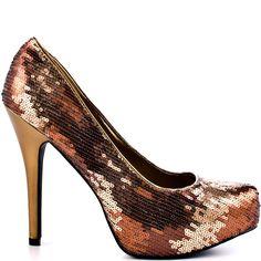 Heels I Love #heels #summer #high_heels #color #love #shoes Tomoko - Bronze                      JustFab