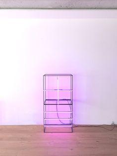 Flamingo-Christian Muscheid-Neonlight- universal-painting leinwand-abstrakte-kunst-malerei-bilder-archetyp