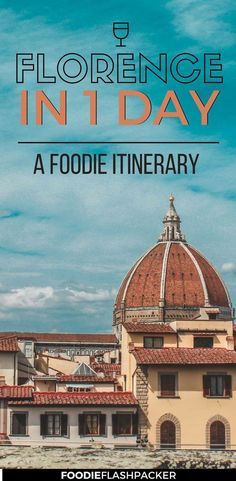You could spend a whole week in Florence, but it's absolutely possible to se ethe best of Florence in a day: check out the best things to do in Florence in one day, and more importantly, the best restaurants in Florence, Italy, that you can't miss! | Florence in 24 hours | 24 hours in Florence, Italy | Florence itinerary one day | Florence for foodies | where to eat in Florence Italy #Florence #itinerary - via @foodieflashpack