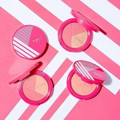 The two-toned, easy to blend Beach Babe Blush has both mat and pearly options to illuminate your skin. #KIKO #KikoMilano