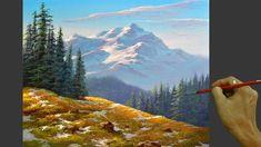 Acrylic Landscape Painting in Time-lapse / Melting Snow / JMLisondra Acrylic Painting Lessons, Painting Techniques, Acrylic Paintings, Winter Landscape, Mountain Landscape, Pattern Art, Art Patterns, Art Tutorials, Painting Tutorials