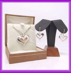 clogau gold pendant & earrings