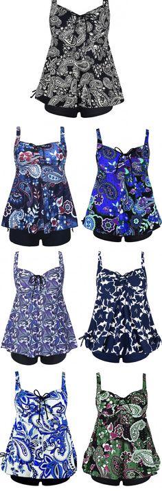 Printed Tankini Swimsuits 2017