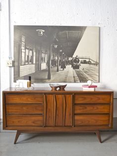 Mid Century Walnut Credenza  $595 - Chicago http://furnishly.com/catalog/product/view/id/3299/s/mid-century-walnut-credenza/