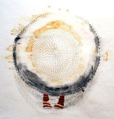 Ytimessä by Lotta-Pia Kallio, Rust, charcoal, embroidery