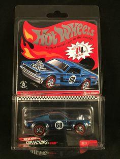 2008 Hot Wheels Redline Club RLC Club Exclusive Blue BOSS HOSS Mustang w/ Button #HotWheels #BossHoss
