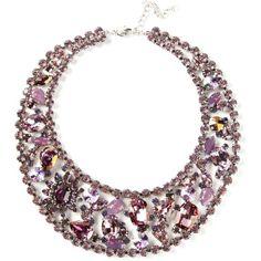 MARINA FOSSATI embellished choker necklace ($583) found on Polyvore