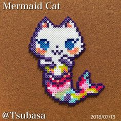 Perler Beads by Tsubasa. Perler Bead Designs, Perler Bead Templates, Hama Beads Design, Diy Perler Beads, Perler Bead Art, Pearler Beads, Melty Bead Patterns, Pearler Bead Patterns, Perler Patterns
