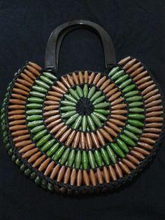 Handbag Made With Paper Beads