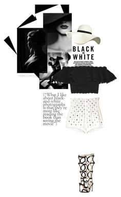 """""""B&W"""" by theitalianglam ❤ liked on Polyvore featuring Alexander McQueen, Balmain, Pilot, Sergio Rossi and monochrome"""