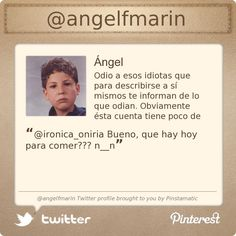 @angelfmarin's Twitter profile courtesy of @Pinstamatic (http://pinstamatic.com)