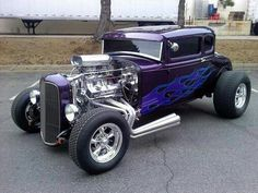 The Purple People Eater Hot Rod