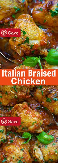 Italian Braised Chicken 40 mins to make serves 3-4 - Ingredients Gluten free Meat 1 lb Chicken thighs Produce 3 cloves Garlic 10 Italian basil fresh leaves 1 tbsp Italian parsley 1 half 14 oz (half can Of a 28-oz can) whole peeled tomatoes whole 1 cup Onion Baking & Spices 1 Black pepper Ground 1 heaping tsp Brown sugar 2 Salt Oils & Vinegars 2 tbsp Olive oil Italian Braised Chicken 40 mins to make serves 3-4