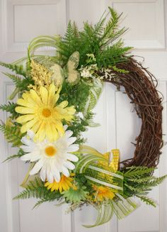 Spring/Summer Grapevine Wreath by ShadesOfTheSeasons on Etsy, $70.00
