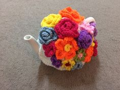 Floral Tea cosy for a medium or large teapot by SpecialHandmade444