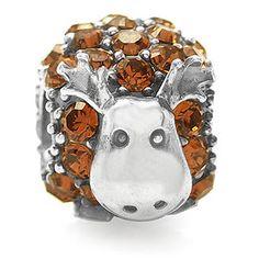 Pandora Style Moose Bead