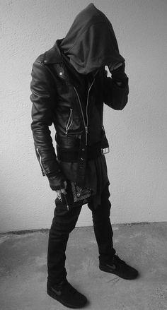 Visions of the Future // Blacklook Vogue Fashion, Dark Fashion, Urban Fashion, Mens Fashion, Punk Outfits, Gothic Outfits, Fashion Outfits, Dystopian Fashion, Cyberpunk Fashion