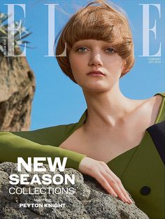 Peyton Knight by Kai Z Feng for Elle UK February 2017 Cover