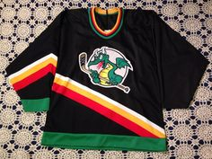 Vintage San Antonio Dragons Defunct IHL Bauer Hockey Jersey