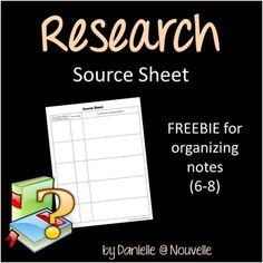 Free Research Source Sheet