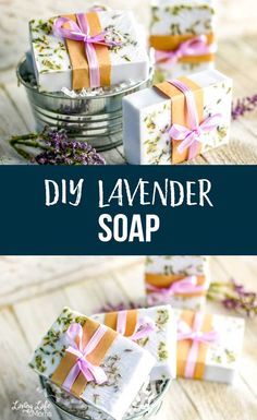 How to make lavender soap with shea butter so you know the exact ingredients that go into your soaps and they make wonderful gifts. Anyone would love getting these lavender shea butter soaps as a gift. Mothers Day Crafts For Kids, Craft Projects For Kids, Cool Diy Projects, Beauty Tips Home Remedy, Diy Beauty, Savon Soap, Essential Oils 101, Shea Butter Soap, Lavender Soap