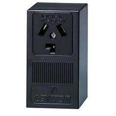 Leviton 30 Amp Surface Mount Power Single Outlet, Black-R60-05054-000 - The Home Depot