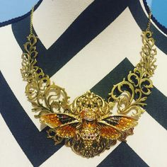 A personal favorite from my Etsy shop https://www.etsy.com/listing/271922826/cicada-bib-necklace