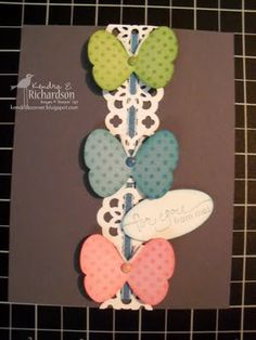 Lace Ribbon punch, Butterfly punch