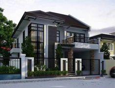 Trendy landscape design plans architecture dream homes Modern Exterior House Designs, Dream House Exterior, Exterior House Colors, Dream House Plans, Modern House Plans, Modern House Design, Exterior Design, Facade Design, Architecture Design