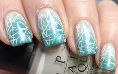 Stamped Nail art manicure. #nails #gradient Pinned by www.SimpleNailArtTips.com