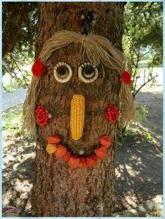strom - Basteln Mit Beton Tisch #Basteln Mit Kleinkindern Karneval #Strom Arts And Crafts Projects, Diy Projects To Try, Crafts For Kids, Autumn Crafts, Nature Crafts, Tree Faces, Autumn Activities For Kids, Preschool Art, Garden Art