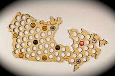 Beer Cap Map of Canada - Wall art - Man Cave - pinned by pin4etsy.com