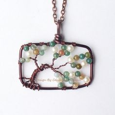 The Bonsai II Tree of Life in Dark Copper Agate by HomeBabyCrafts, $32.00