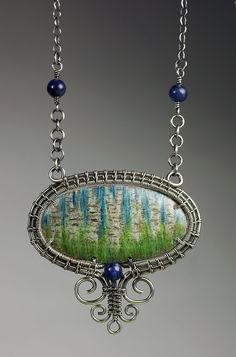 Wire Framed Colored Pencil-on-Copper Pendant - Bead&Button Show