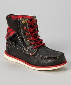 cb5aa330cef5b Black   Red Aiden Ankle Boot Nexos, Ropa Para Niñas, Tomy, Vestimenta De