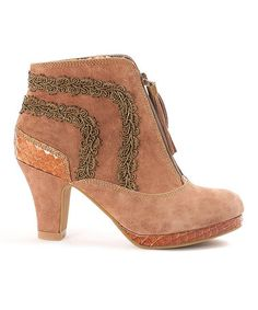 Another great find on #zulily! Taupe Corbusier Suede Bootie #zulilyfinds
