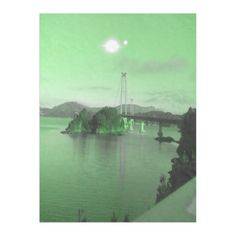Green sky and green ocean. A bridge and mountain in the background. Two sun in the sky. You can also customized it to get a more personal look. Green Ocean, Green Sky, Iphone Models, Iphone Case Covers, Iphone 6, Bridge, Sun, Mountain, Trees