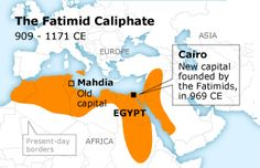 Fatimid Caliphate 909-1171 Fatimid Caliphate, Islamic World, Mediterranean Sea, Crests, Sufi, Present Day, Cairo, Continents, Sorting