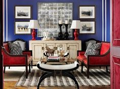 Superieur Patriotic Sitting Room   Love This! Blue Living Rooms, Blue Rooms, Blue  Walls