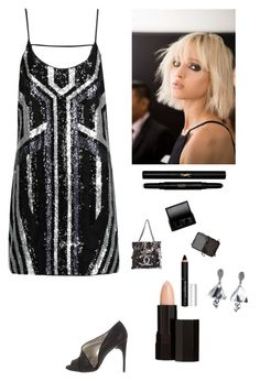 """""""Sequin Mini"""" by kotnourka ❤ liked on Polyvore featuring W118 by Walter Baker, Chanel, Dolce&Gabbana, Nicole Miller, Surratt, Serge Lutens, Givenchy, NARS Cosmetics, Yves Saint Laurent and Oscar de la Renta"""
