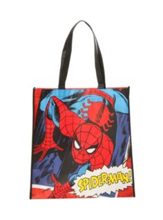Marvel Spider-Man Comic Large Shopper Tote