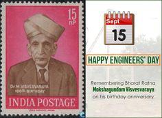 National #EngineersDay in memory of #Engineer #BharatRatna M. #Visvesvaraya.