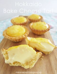 Baked Cheese Tart Recipe Feature on Michelin Guide SG Mini Desserts, Asian Desserts, Delicious Desserts, Bake Cheese Tart, Cheese Tarts, Sweet Pie, Sweet Tarts, Japanese Cheese Tart, Tart Recipes