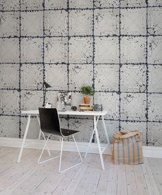 Hey, look at this wallpaper from Rebel Walls, Tin Plates Nebraska, white! #rebelwalls #wallpaper #wallmurals