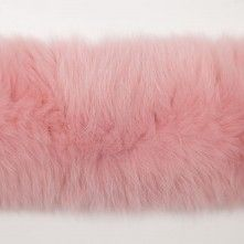 Pink Genuine Finland Fox Fur Collar