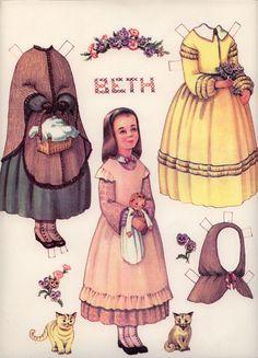 Beth Little Women Paper Dolls