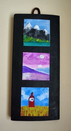 Geography for Kids: Getting to know the Canadian Landscape through art from that artist woman: Landscape Inchies Part 1 ( mini USA landforms idea) Canadian History, Canadian Art, History Projects, Art Projects, Art History, Landscape Art Lessons, Landscape Paintings, Small Paintings, Inchies
